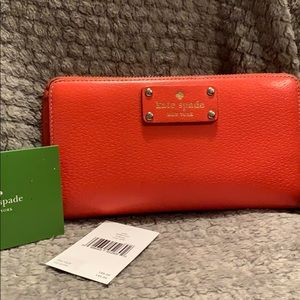 Coral Kate spade wallet